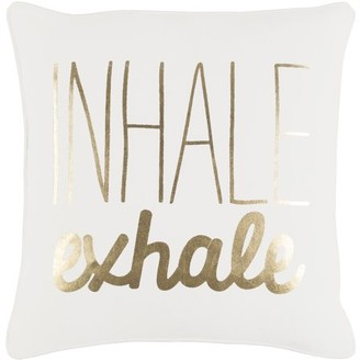 "Artistic Weavers Glyph Inhale/Exhale 18"" x 18"" Pillow Cover"