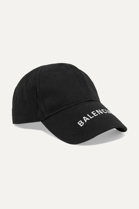 ff1f814f Balenciaga Embroidered Cotton-twill Baseball Cap - Black
