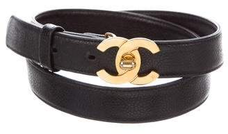 Chanel CC Leather Belt