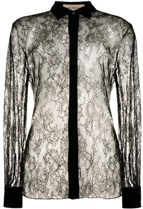 Alexandre Vauthier sheer lace shirt
