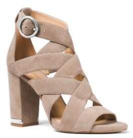 MICHAEL Michael Kors Valerie Strappy Cage Suede Sandals