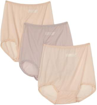 Bali Women's 3-Pack Skimp Skamp Brief Panties, 2 Moonlight/1 Mocha Mist