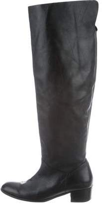 Maryam Nassir Zadeh Leather Round-Toe Knee-High Boots