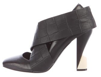 Balenciaga Balenciaga Square-Toe Leather Pumps