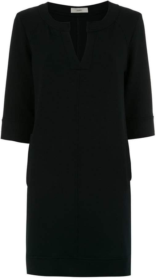 Egrey cropped sleeved dress