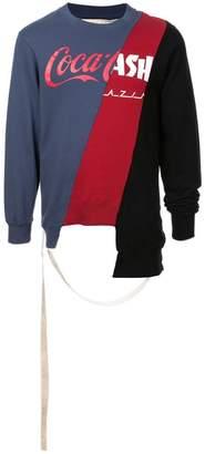 Puma Maison Yasuhiro mesh branded sweater
