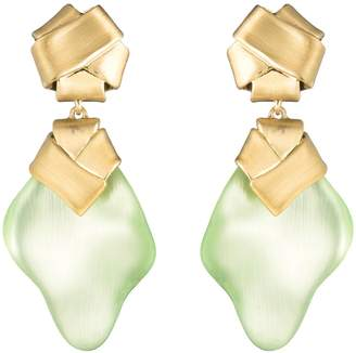Alexis Bittar Folded Knot Clip Drop Earrings
