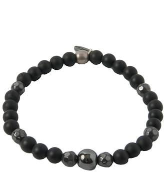 Ettika Mr. Onyx, Hematite & Silver Bracelet