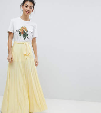 Asos Pleated Maxi Skirt with Belt