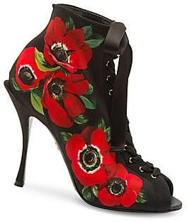 Dolce & Gabbana Dolce& Gabbana Women's Floral Lace-Up Sandals
