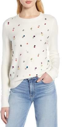 Halogen Embellished Sweater
