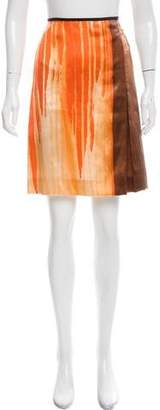 Reed Krakoff Abstract Printed Silk Skirt