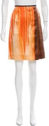 Reed Krakoff Abstract Printed Silk Skirt