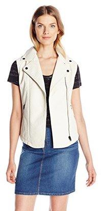 Calvin Klein Jeans Women's Bubbled Faux Leather Vest with Suede Tri $148 thestylecure.com