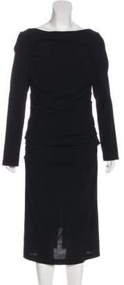 Talbot Runhof Wool Midi Dress