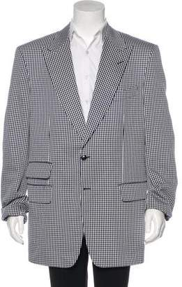 Tom Ford Embroidered Plaid Blazer