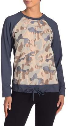 Koral Olvera Metallic Camouflage Pullover
