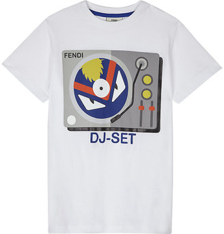 Fendi DJ monster cotton T-shirt 4-14 years $163 thestylecure.com
