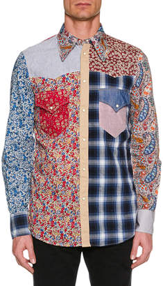 DSQUARED2 Men's Flower-Printed Western Shirt