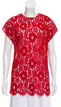 Dolce & Gabbana Cap Sleeve Crochet Blouse