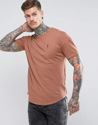 Religion Longline Curved Hem T-Shirt