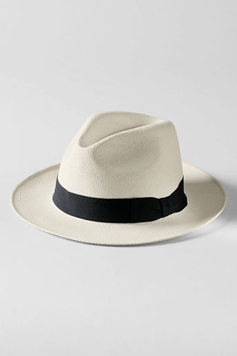 Lands' End Men's Panama Straw Hat