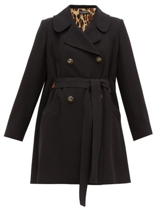 Dolce & Gabbana Double Breasted Belted Coat - Womens - Black
