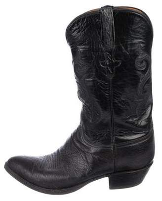 Lucchese Anteater Leather Cowboy Boots