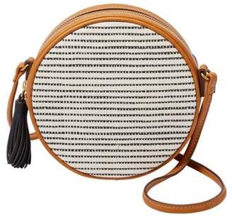 Fossil Mini Circle Bag Handbags Black Stripe