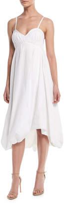 3.1 Phillip Lim Sleeveless Empire-Waist Cotton Bubble Dress