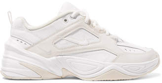 Nike M2k Tekno Leather And Neoprene Sneakers - White