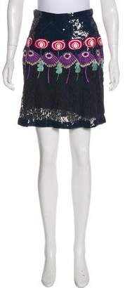 Temperley London Embellished Mini Skirt w/ Tags