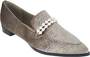 Marc Fisher Velvet Slip-On Loafers - Kneel