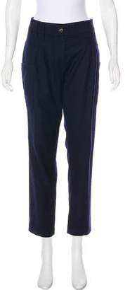 Gunex Virgin Wool High-Rise Pants