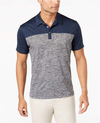 Alfani Men's Wrinkle-Resistant Colorblocked Ethan Polo