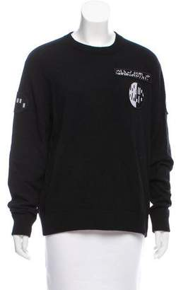 Alexander Wang Long Sleeve Crew Neck Sweater