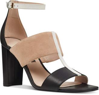 7692401bcac Nine West Nohea Colorblocked City Sandals Women Shoes