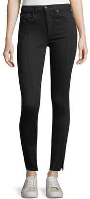 Rag & Bone Yuki High-Rise Skinny jeans w/ Pintuck & Slit