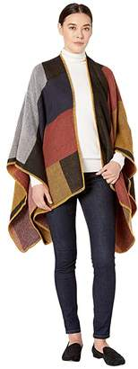 San Diego Hat Company BSP3553 Woven Color Block Poncho