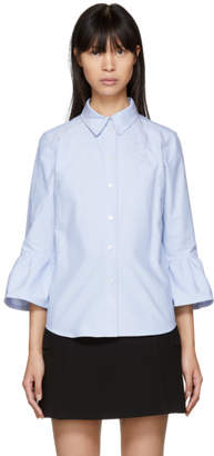 Marc Jacobs Blue Ruffle Sleeves Shirt