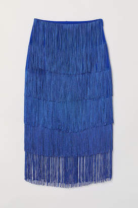 H&M Skirt with Fringe - Blue