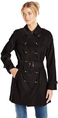 Jones New York Women's Double Breasted Trench Coat
