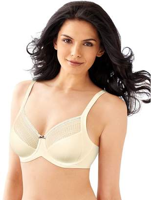 Lilyette by Bali Women's Enchantment Lace Minimizer Bra_Ivory W/Rum Raisin_