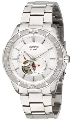 Accurist Pure Precision Men 's Automatic Watch with Silver DialアナログDisplay and Silverステンレススチールブレスレットmb912s