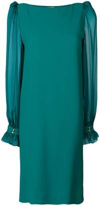 Roberto Cavalli sheer sleeve dress