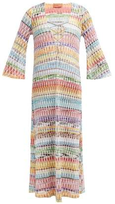 Missoni Mare - Crochet Knit Lace Up Cover Up - Womens - Multi