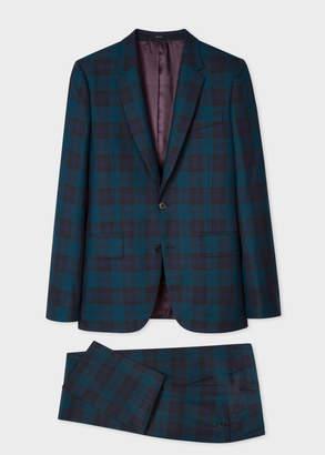 Paul Smith The Soho - Men's Tailored-Fit Green Tartan Wool Suit