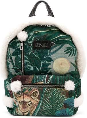 Kenzo furry jungle backpack