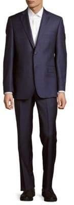 Italian Wool Plaid Suit