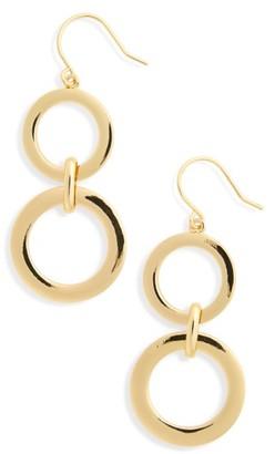 Women's Nordstrom Double Ring Drop Earrings $29 thestylecure.com
